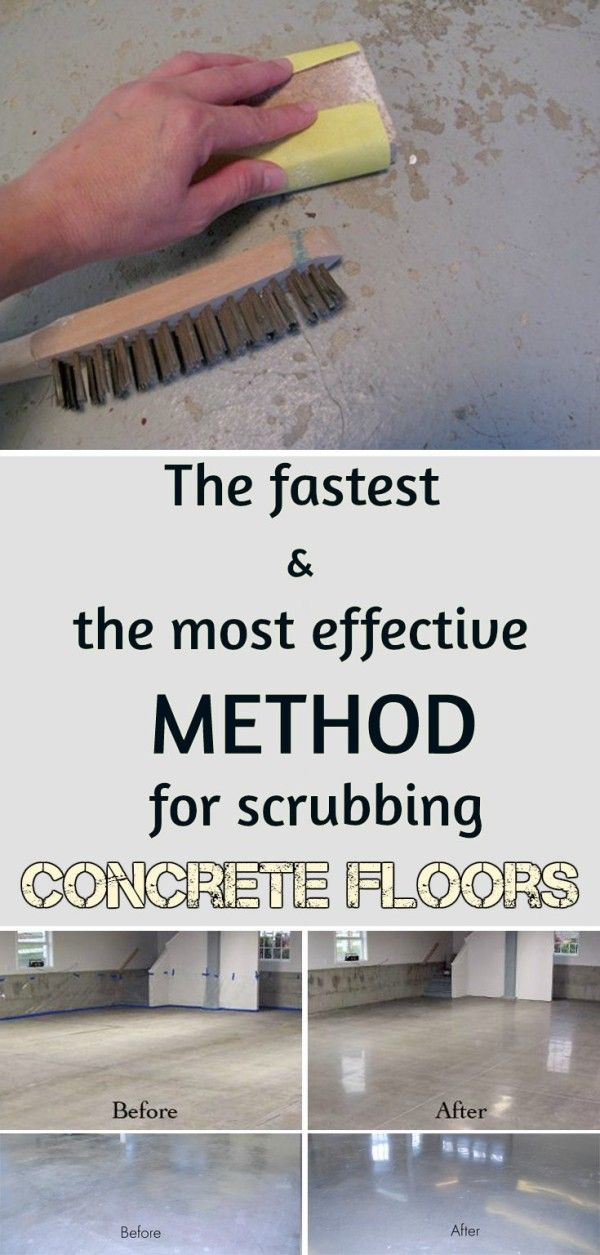 The fastest and the most effective method for scrubbing concrete floors.
