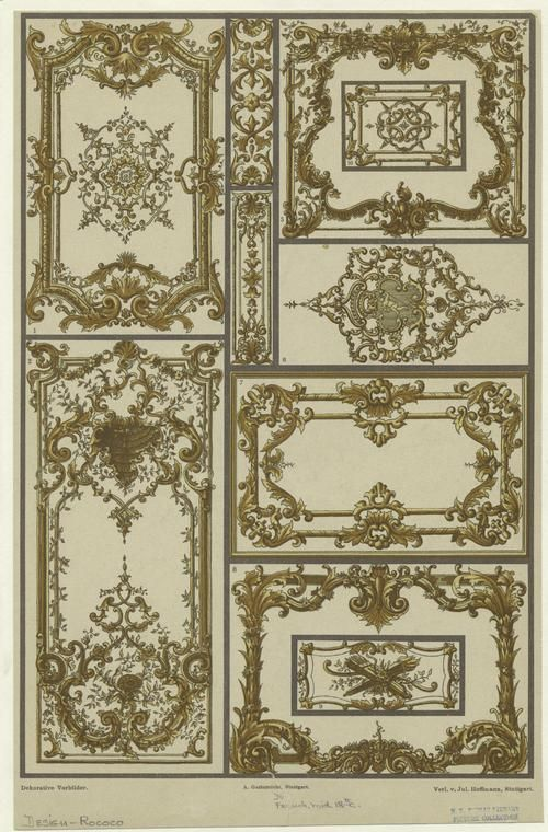 french rococo design middle 18th century arch. Black Bedroom Furniture Sets. Home Design Ideas