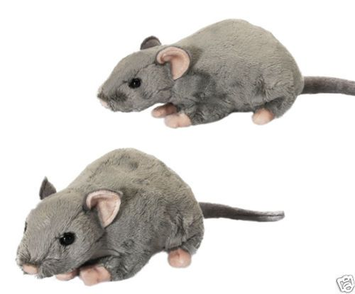 Details About Living Nature Realistic Rat Grey Plush Soft