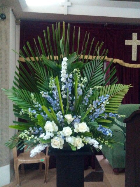 palm suday my flower arrangement tropical flower