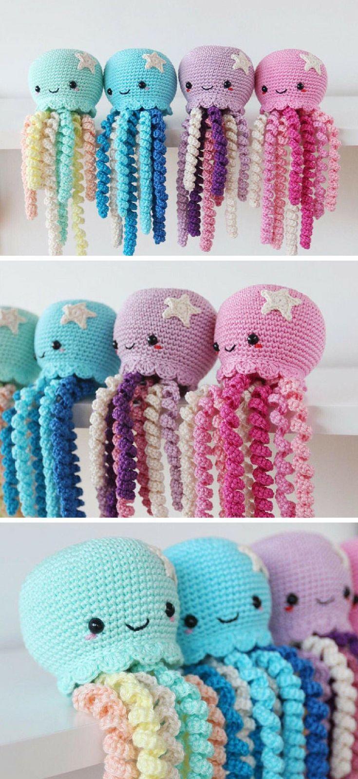 Amigurumi Octopus Crochet Pattern Printable PDF   Amigurumi Jellyfish Crochet Pa...