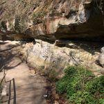 Sandsteinformationen am Weg in den Aachtobel