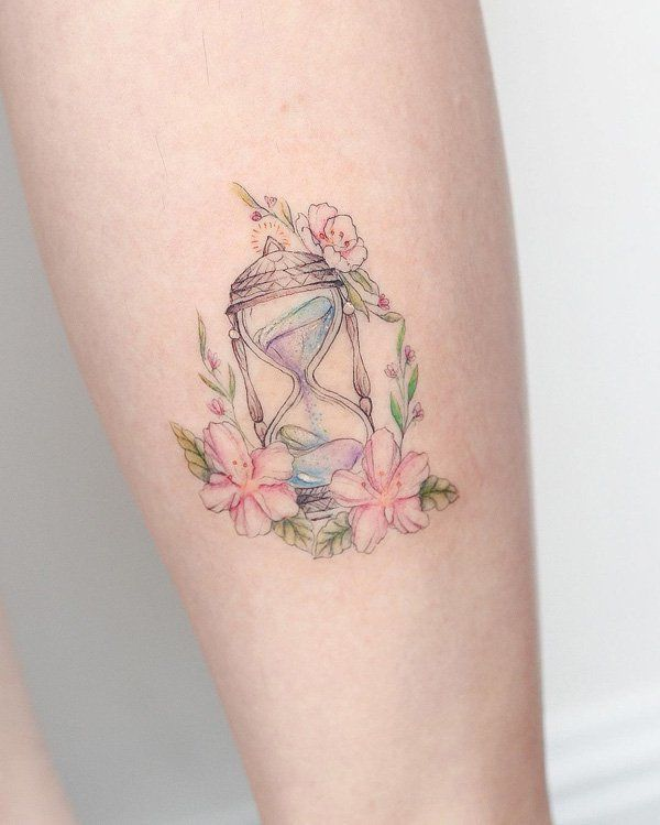 Very small, beautiful, delicate and seductive tattoo for brave ladies of the 21st century. All exudes femininity.