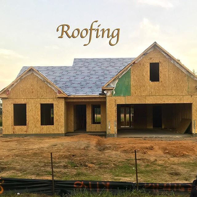 My client will use architectural shingles for her roof. The first step is to cover the roof with building paper. ____________________ #realtor #realestate #realestateagent #newhome #home #dreamhome #buyer #buy #build