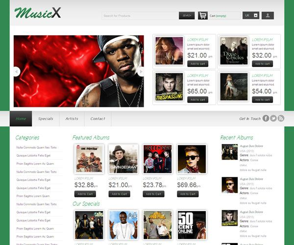 MusicX Website Template