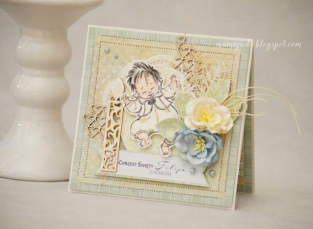 Craft and You Design: A Baptism Card/ Kartka z okazji Chrztu