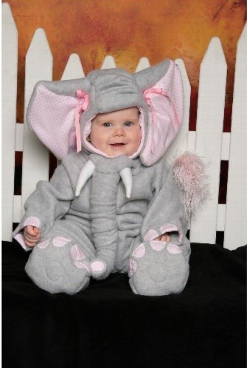 Elephant Costume, Infant, Fleece Jumpsuit with Hood - CUSTOM Lumpy the Heffalump. $65.00, via Etsy.