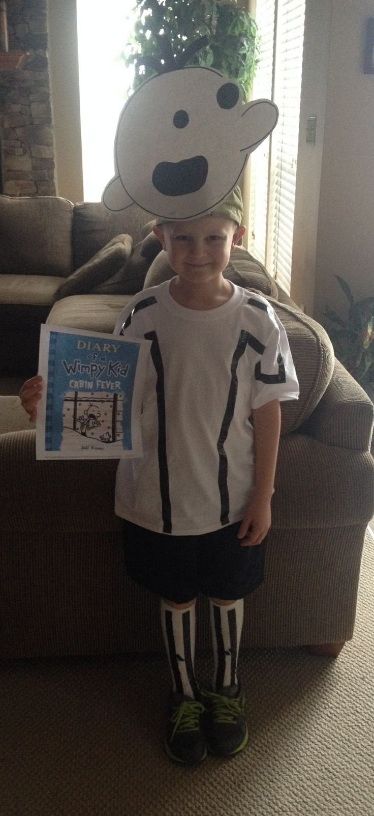 Diary of a wimpy kid character costume day for school.