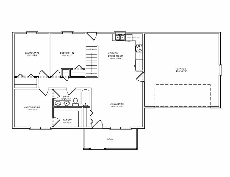 3 Bedroom Ranch Floor Plans Plan Is Ideal For
