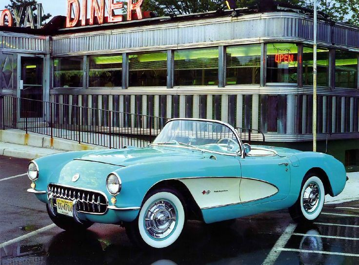 '57 Corvette Roadster w/ Fuel Injected V8 + Diner  Ummm...I'm sure I could find room for this in my garage!