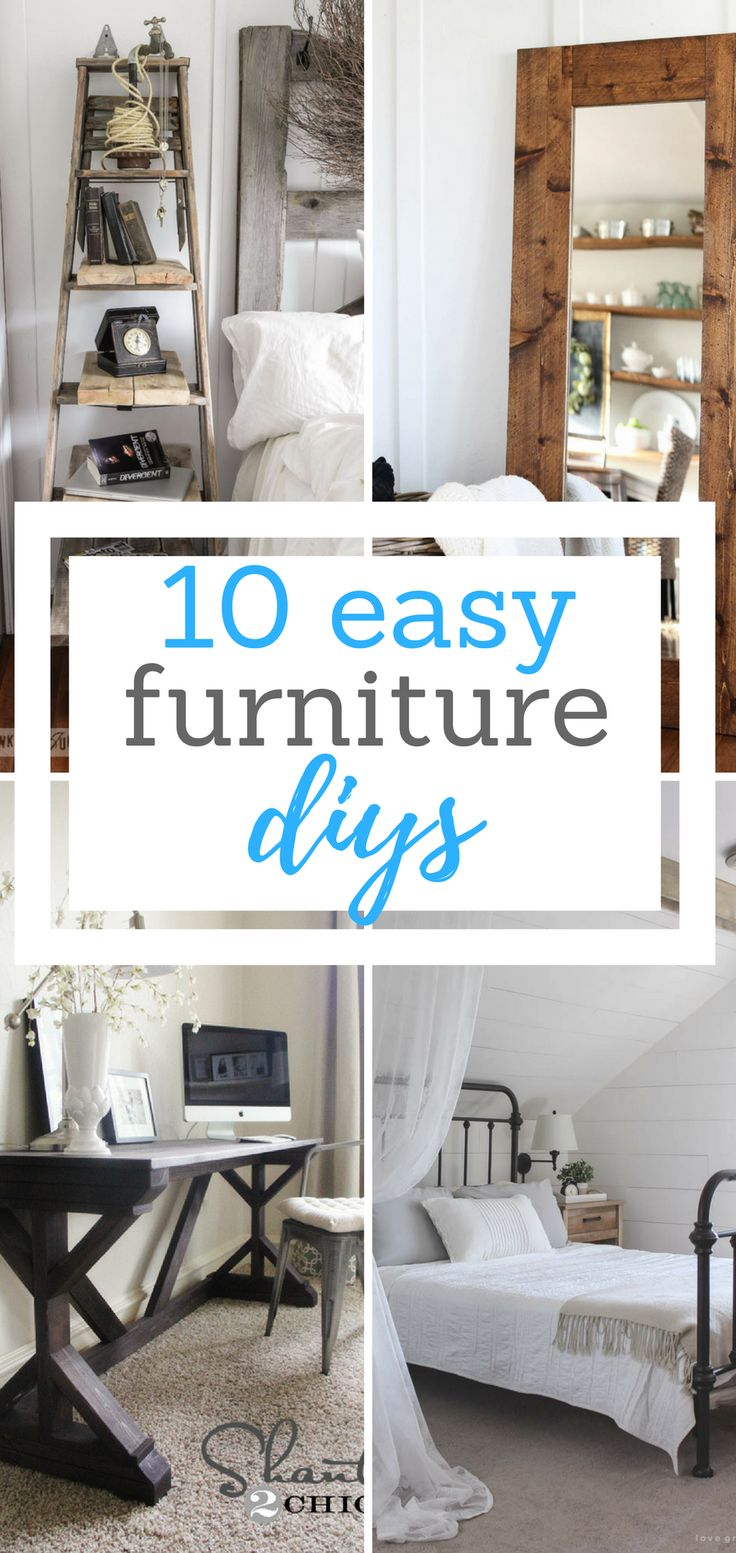 10 Easy Furniture DIYs - The Dazzling Daisy Furniture Projects, DIY Furniture, DIY Home, DIY Home Decor, Home Decor Projects