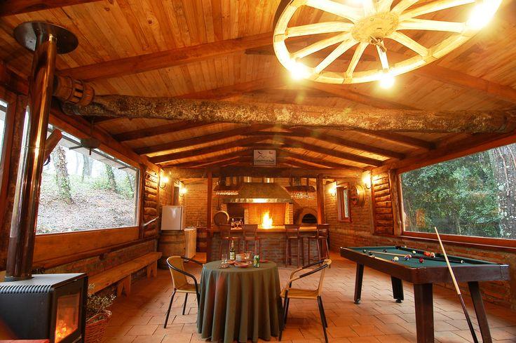 Quincho del Lodge de montaña Talhuén, Chillán, Chile. www.andeshorse.cl