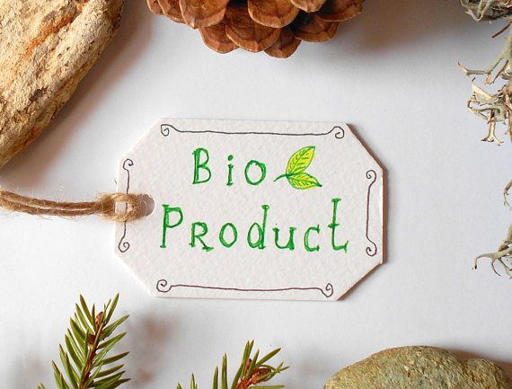 Bio product labels Set of 5 10 15 20 50 or 100 cardstock