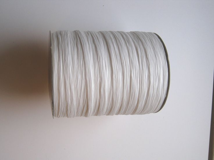 100 Yards of PAPER White Raffia - pinned by pin4etsy.com