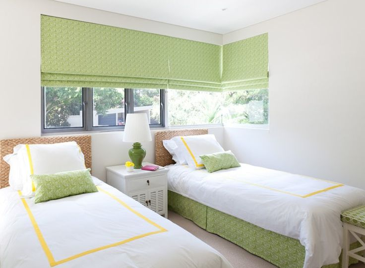 Diane Bergeron Interiors Beachy Yellow And Green Girls Bedroom With