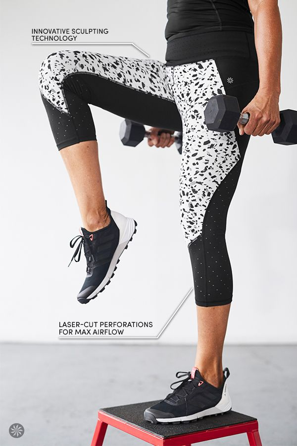 Introducing TruCool, our new pant with the powerful sculpting of our innovative Sculptek fabric technology, and laser-cut perforations to give you max airflow for extreme cooling in your sweatiest workouts. Sculptek compression fabric creates a flattering sculpting effect, with zoned compression for targeted support so you look better than ever.