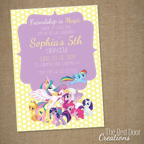 My Little Pony Birthday Party Invitation by TheRedDoorCreations, $12.00