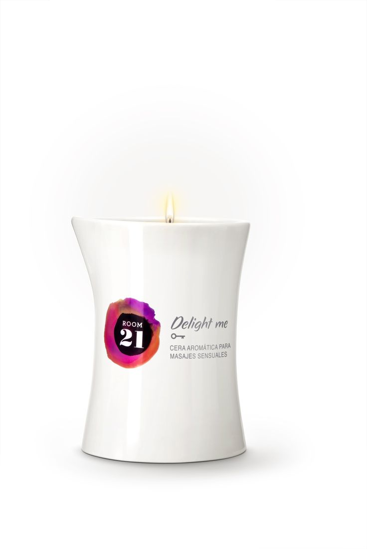 Delight Me - Cera aromática para masajes sensuales con aroma a canela. www.room21.tv