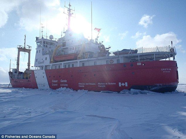 Savior: The Canadian coast guard's Griffon smashed through the thick ice and freed both sh...