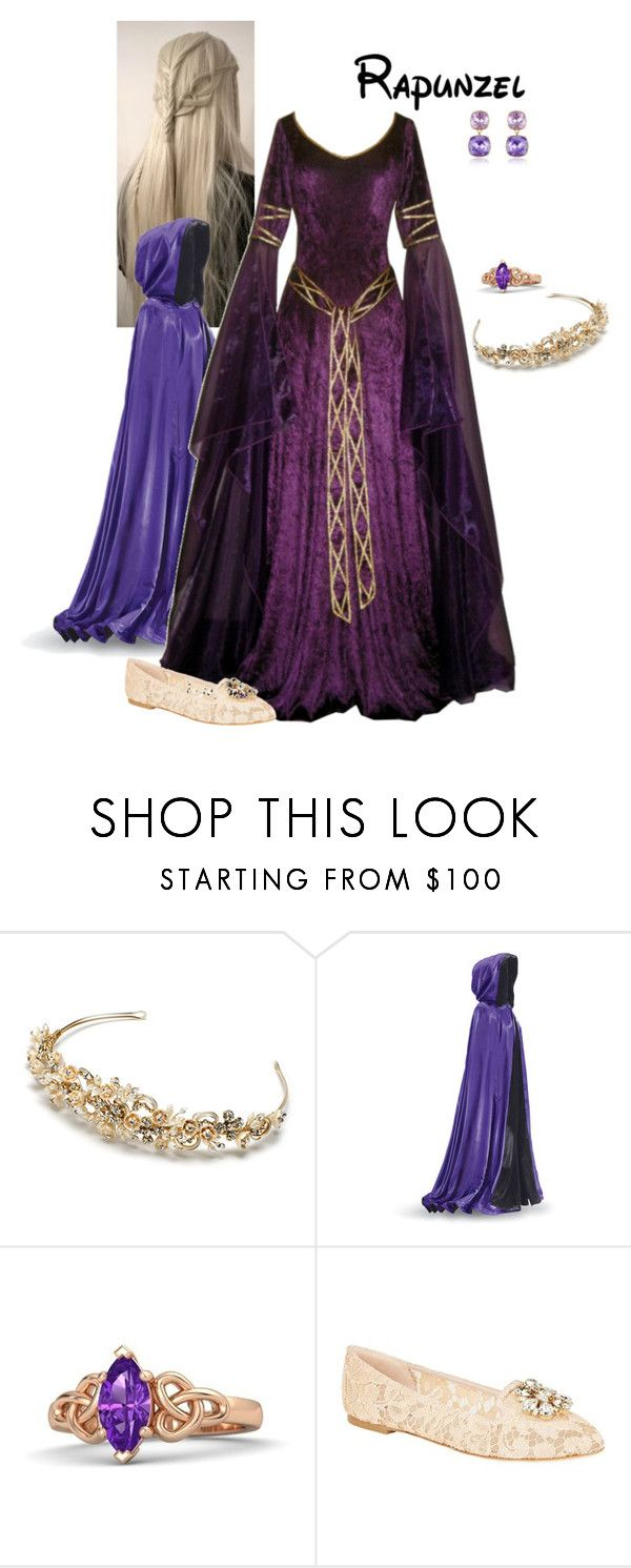 """""""Disney Renaissance Princess - Rapunzel"""" by briony-jae ❤ liked on Polyvore featuring Dolce&Gabbana and AZ Collection"""