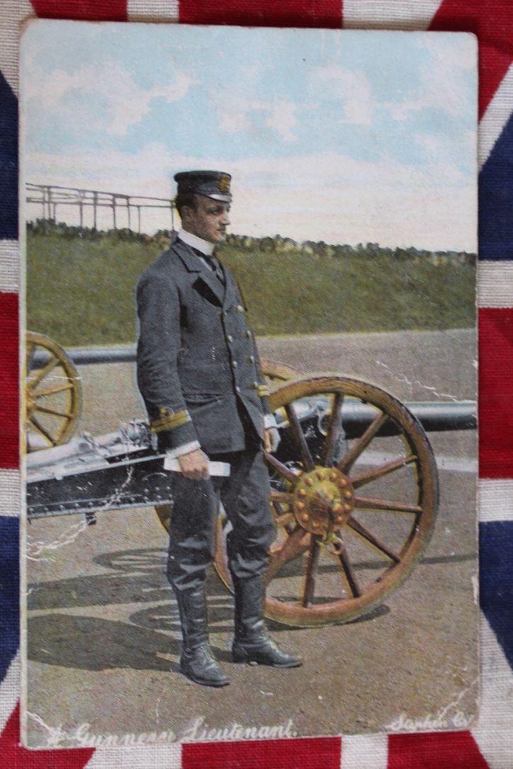 Victorian Royal Navy Lieutenant Gunner Postcard, £3.50