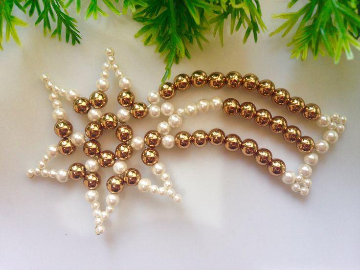 How to make christmas ornament | DIY beaded christmas ornament
