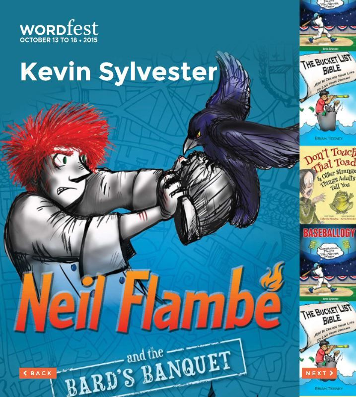 Presented at Wordfest Youth 2015: ENGLISH -GRADE 3-6 - speak French as well, perfect for French second language or French immersion - Kevin Sylvester (ON, Canada) is an award-winning writer, illustrator and broadcaster. His books include the Neil Flambé series, Gold Medal for Weird, and Sports Hall of Weird. http://wordfest.com/artists/youth-authors/kevin-sylvester?cid=7