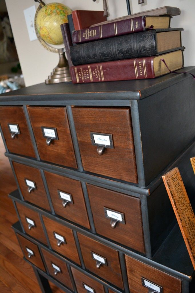 Vintage Inspired Apothecary Cabinet....be sure to check out the before!