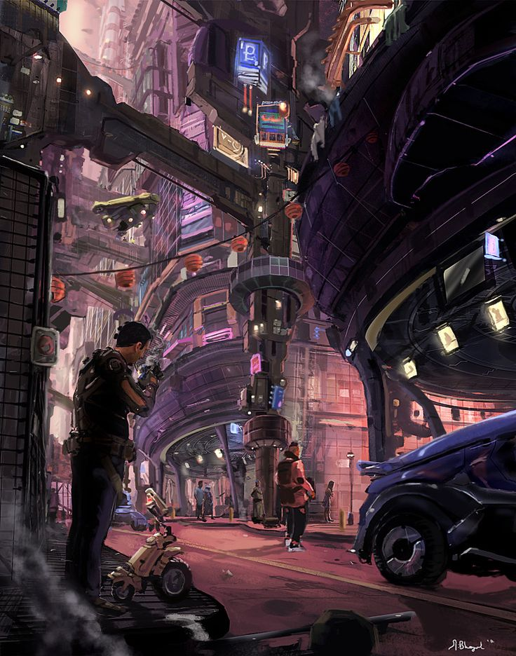 Pretty sweet looking city. Honestly, it reminds me a bit of Coruscant's lower levels.