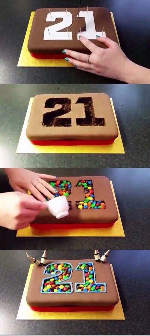 Geburtstagskuchen mit Zahl wie alt man wird.