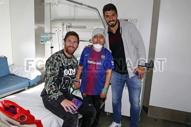 Messi y Suárez visitan a niño hondureño en hospital en Barcelona - Diez - Diario Deportivo