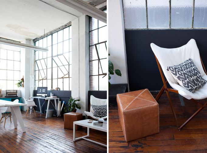 Studio space: open and light