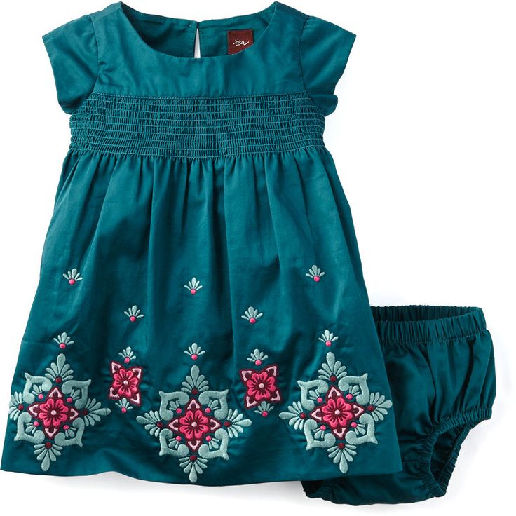 Tea Collection Melina Embroidered Baby Dress