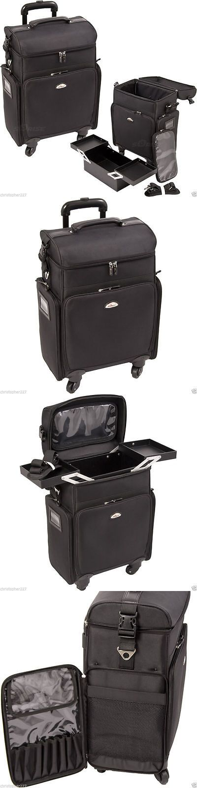 Rolling Makeup Cases: Salon Trolley Bag On Wheels Rolling Black Supply Makeup Hairstylist Case Laptop BUY IT NOW ONLY: $149.99