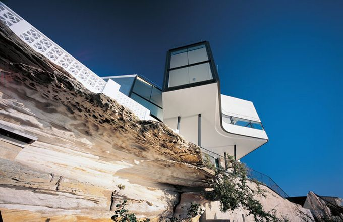 Holman House perched on cliff top