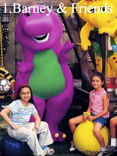 Barney & Friends Left: Demi Lovato Right: Selena Gomez haha