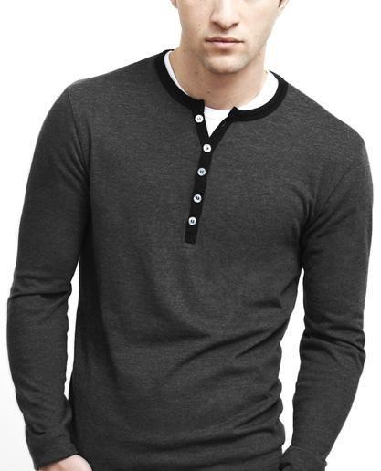 Men's Long-Sleeve Heritage Henley T-Shirt