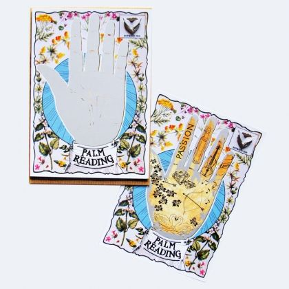 Scratch off the silver to reveal a palm reading of loving messages for your loved one