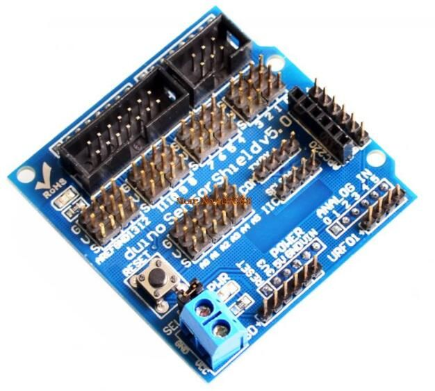Find More Electronics Production Machinery Information about 1pcs Smart Electronics for arduino Sensor Shield V5.0 V5 Expansion Development Board DIY Blocks Of Robot Part,High Quality electronic pro,China electronic line Suppliers, Cheap electronic eyewear from Goldeleway smart orders store on Aliexpress.com