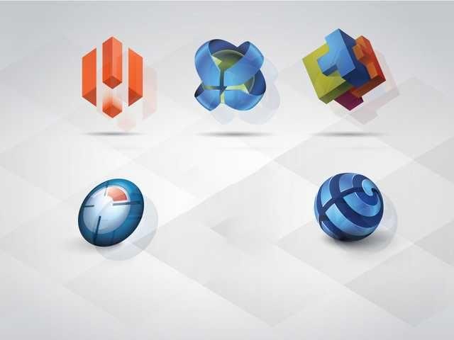 3D Logo Templates Set - FREE