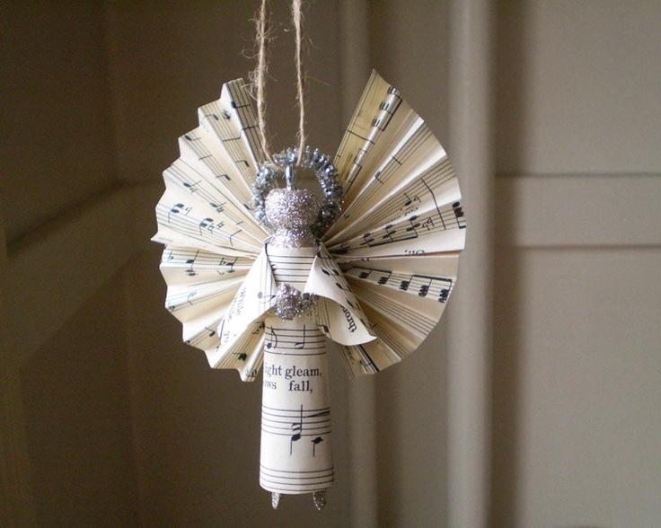 Noten-Engel aus Papier
