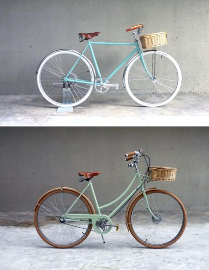 I'm definitely lusting after these gorgeous restored vintage bikes from Vanguard Designs.