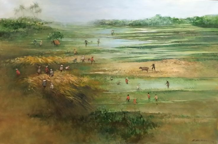 Harvest by Choo Keng Kwang, 82 x 122cm, Oil on Canvas, 2013