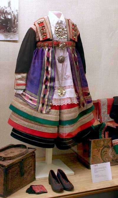 Traditional Norwegian wedding and marriage clothing Setesdal