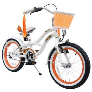 puky kinderfahrrad: bike*star 40.6cm (16 Zoll) Kinder-Fahrrad Cruiser - Weiß Top-Preis