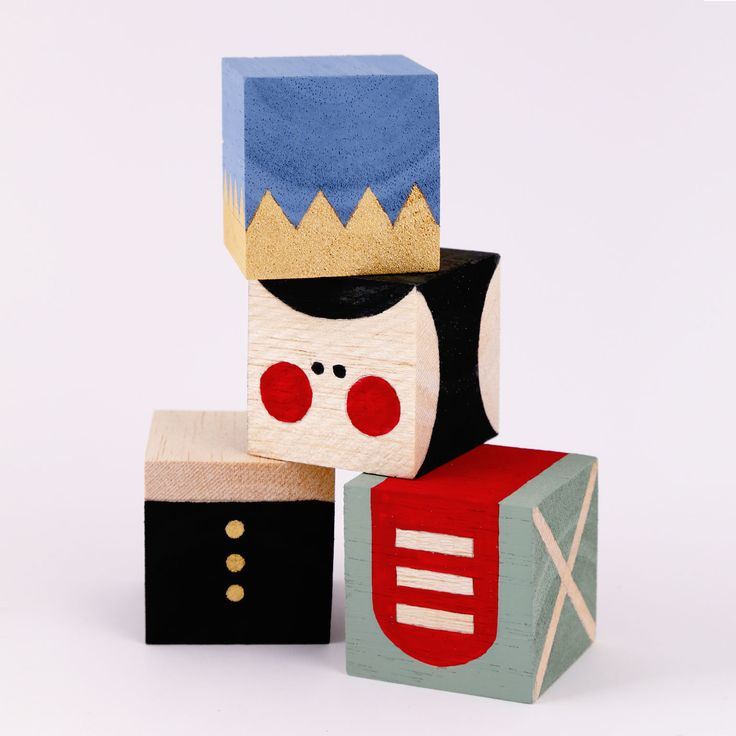 Stacking blocks are such an easy and accessible toy for parents to make for their little ones, and the Nutcracker traditional holiday icon is the perfect character to make stacking blocks from