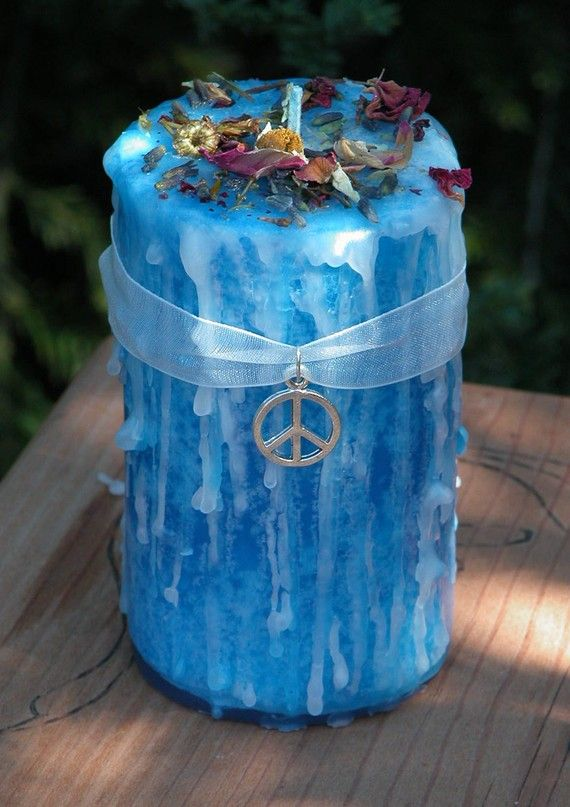 Peaceful Home . Herbal Alchemy Magick Candle by WhiteMagickAlchemy