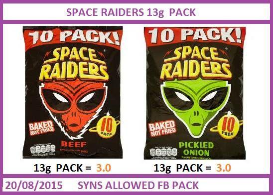 Space raider crisp syns