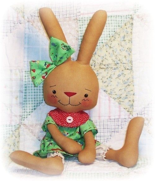 Softie Pattern Bunny Rabbit Whimsy Doll Pattern by OhSewDollin