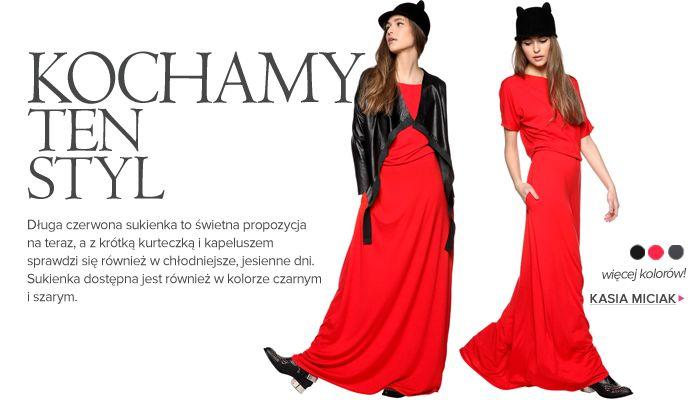 Kochamy ten styl! Sukienka - KASIA MICIAK: http://www.saltandpepper.pl/sukienka-maxi-czerwona.html -> sprawdź więcej kolorów!  Kurtka skórzana - JAROSŁAW EWERT: http://www.saltandpepper.pl/skorzana-kurtka-z-luznym-kolnierzem.html  Buty - JEFFREY CAMPBELL: http://www.saltandpepper.pl/kowbojki-presley.html  Kapelusz uszatek - FORHEN: http://www.saltandpepper.pl/uszatek-czarny.html
